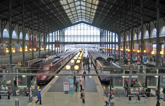 Estación Paris - Gare du Nord