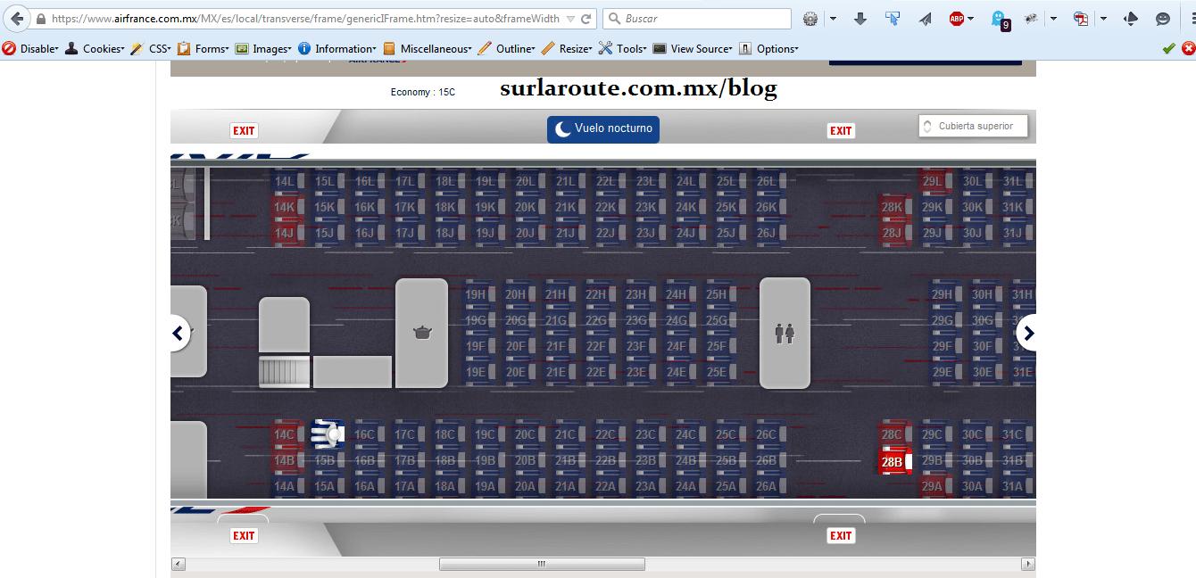 Elegir el mejor asiento en el avión