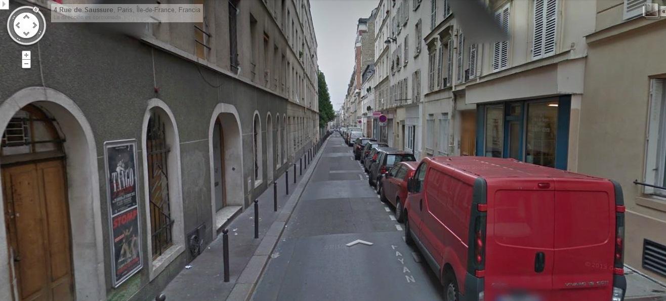 Seguimos sobre la calle Rue de Saussure.