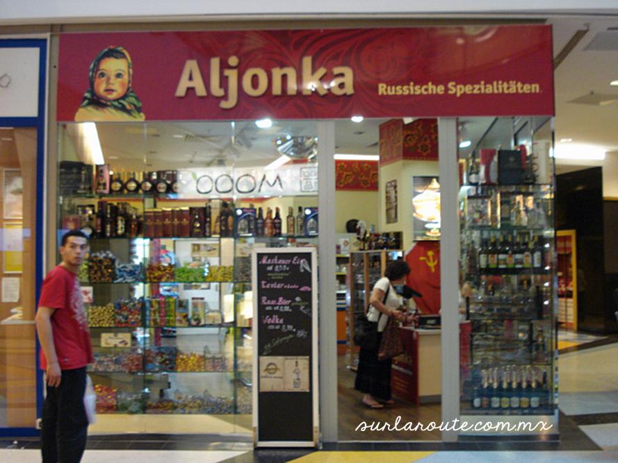 Aljonka at Alexa shopping mall, Berlin, Germany.