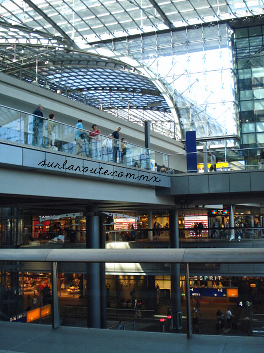 Shopping center in Berlin Main Train Station