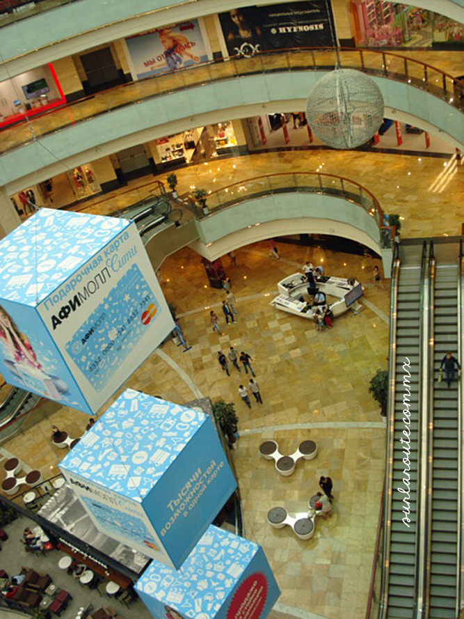 View from the top of Moscow city shopping center