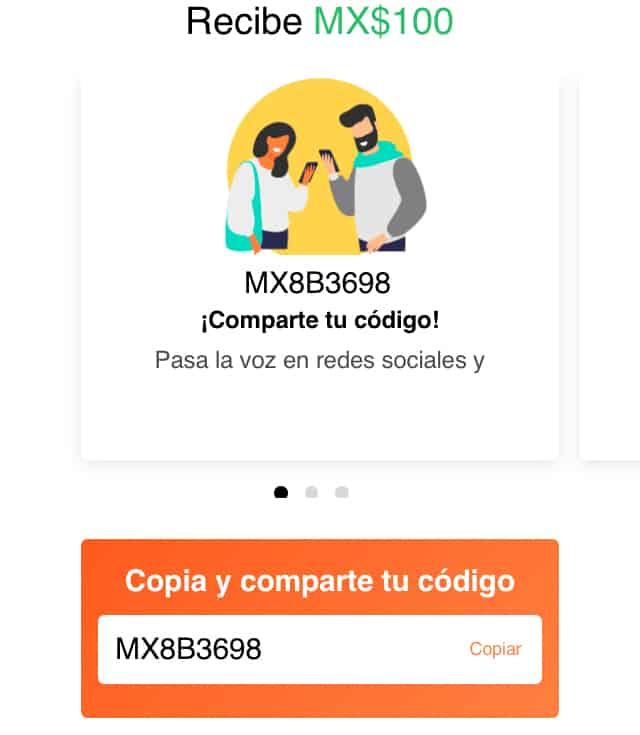 Código de promoción Didi: MX8B3698
